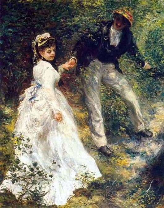 Description of the painting by Pierre Auguste Renoir Walk