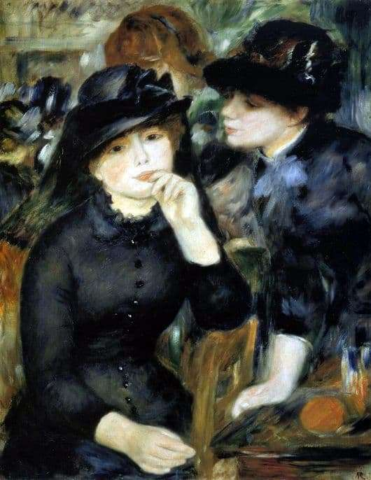 Description of the painting by Pierre Renoir Girls in black