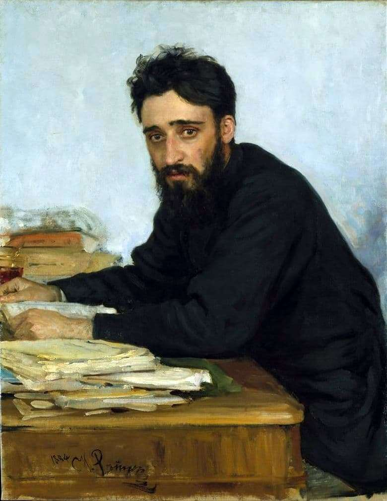 Description of the painting by Ilya Repin Portrait of the writer V. M. Garshin