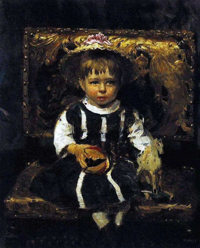 Description of the painting by Ilya Repin Portrait of V. I. Repina, the artists daughter