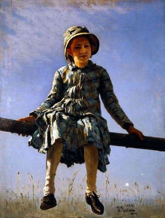 Description of the painting by Ilya Repin Dragonfly