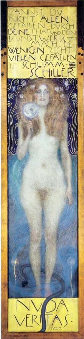 Description of the painting by Gustav Klimt Nude Truth