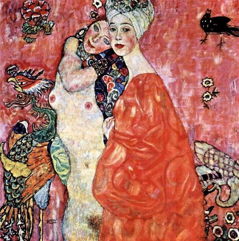 Description of the painting by Gustav Klimt Girlfriend