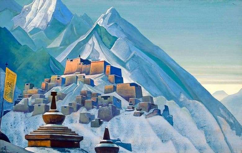 Description of the painting by Nicholas Roerich Tibet. Himalayas
