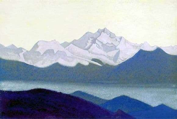 Description of the painting by Nicholas Roerich Kanchenjunga