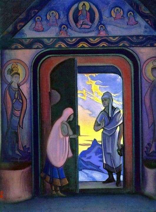 Description of the painting by Nicholas Roerich Herald