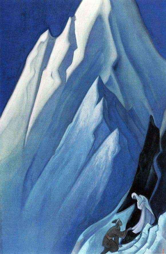 Description of the painting by Nicholas Roerich Leading