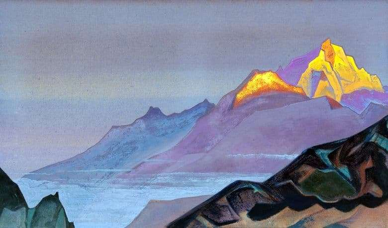 Description of the painting by Nicholas Roerich The Way to Shambhala