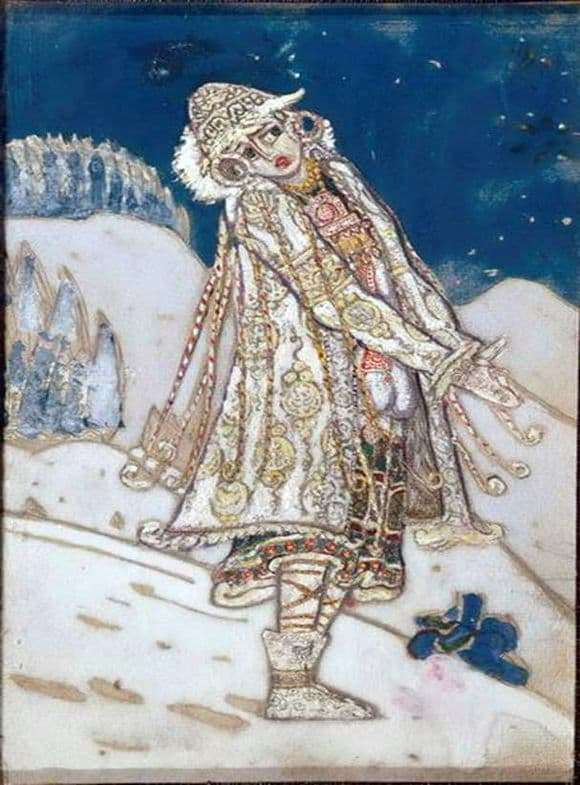 Description of the painting by Nicholas Roerich Snow Maiden