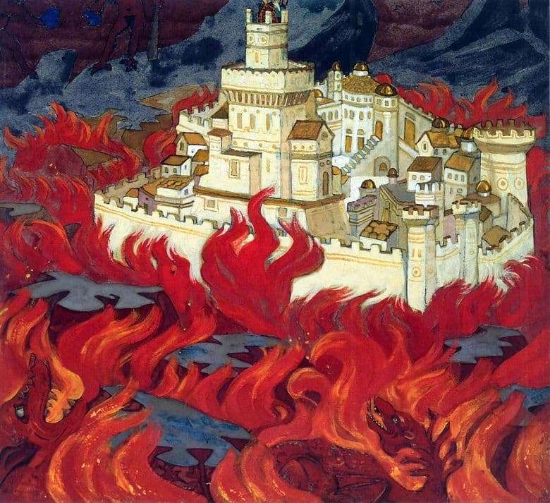 Description of the painting by Nicholas Roerich Purest City   bitterness to the enemies