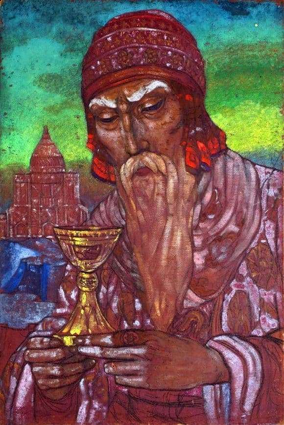 Description of the painting by Svyatoslav Roerich King Solomon