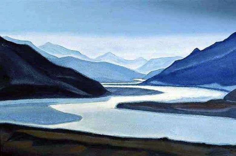 Description of the painting by Svyatoslav Roerich Brahmaputra