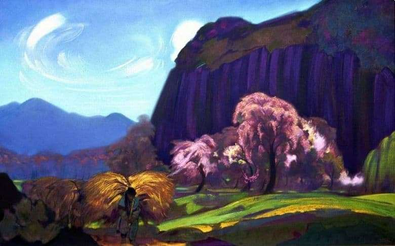 Description of the painting by Svyatoslav Roerich Landscape