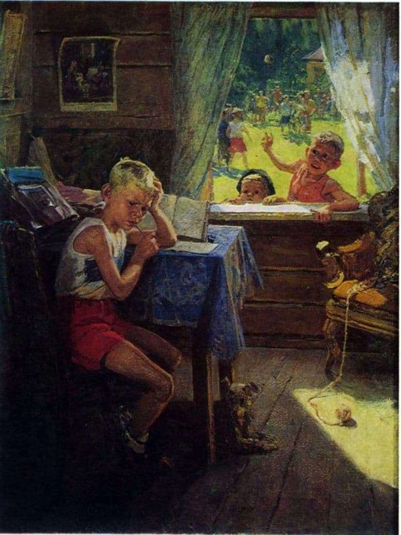 Description of the painting by Fedor Reshetnikov Re examination