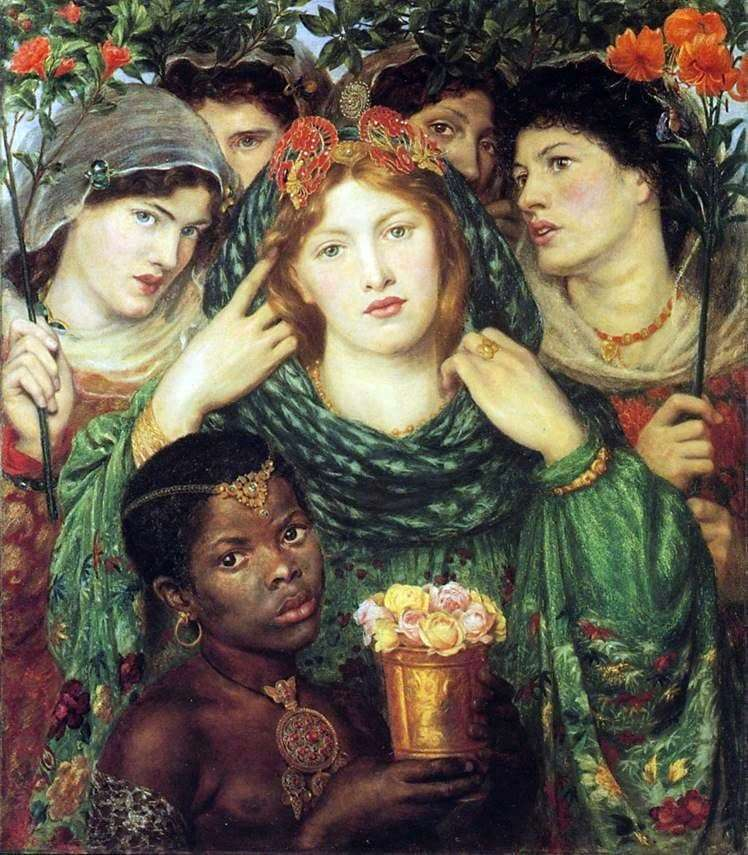 Description of the painting by Dante Rossetti Beloved (Bride)