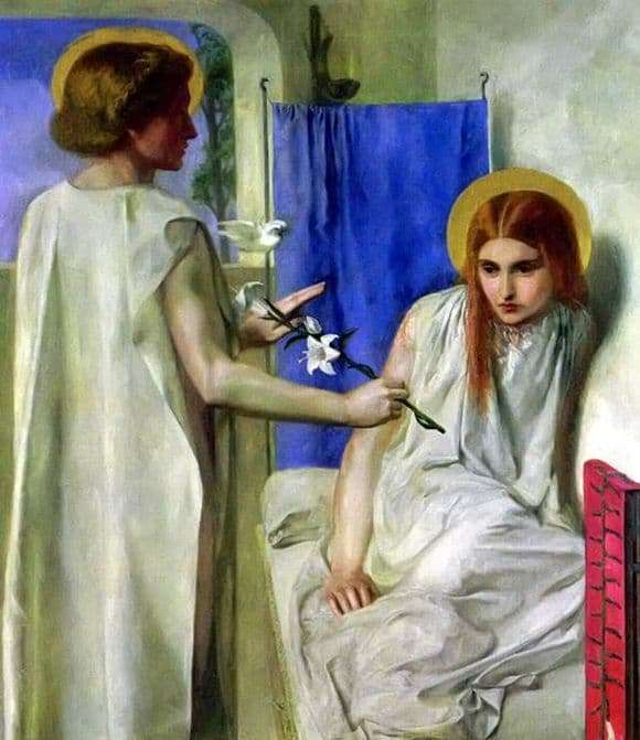 Description of the painting by Dante Rossetti Annunciation