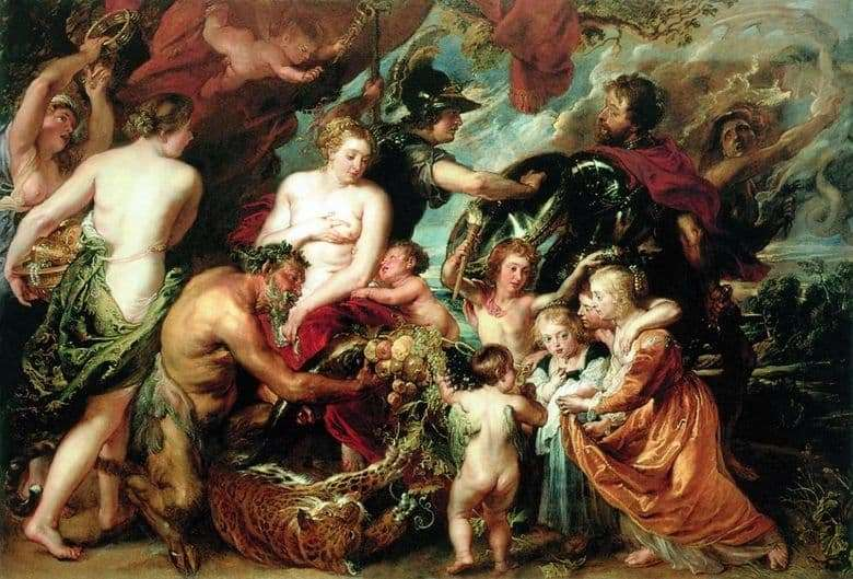 Description of the painting by Peter Rubens Allegory of War and Peace