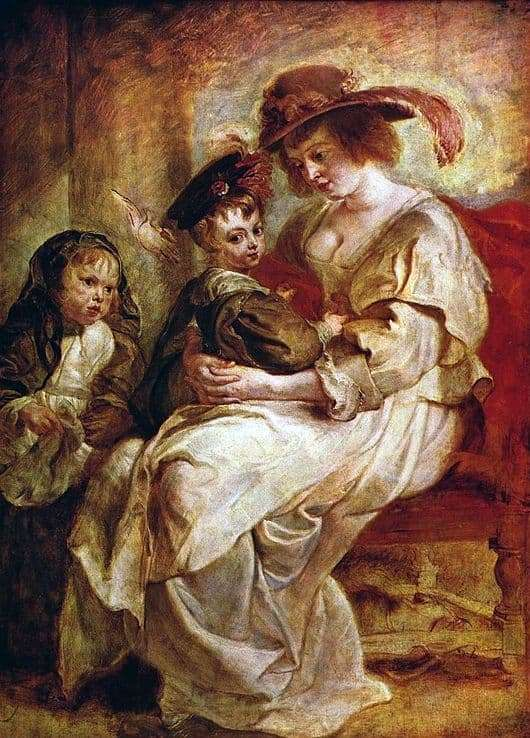 Description of the painting by Peter Rubens Elena Furmen with children