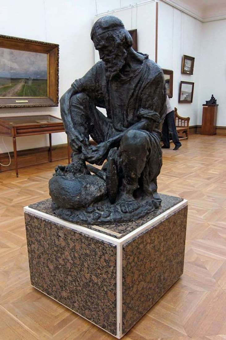 Description of the sculpture by Sergey Konenkov Stone Digger
