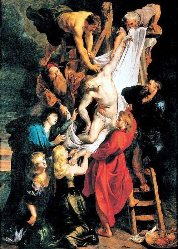 Description of the painting by Peter Rubens The Descent from the Cross