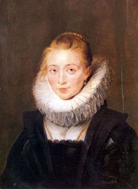 Description of the painting by Peter Rubens Portrait of a womanwoman Infanta Isabella