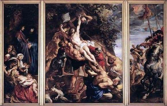 Description of the painting by Peter Rubens Exaltation of the Cross