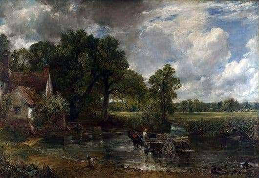 Description of the painting by John Constable Cart for hay