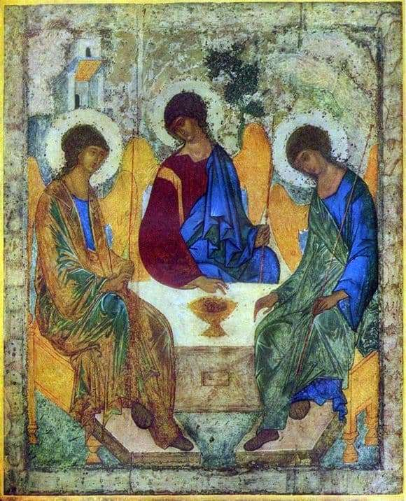 Description of the icon by Andrei Rublev Trinity