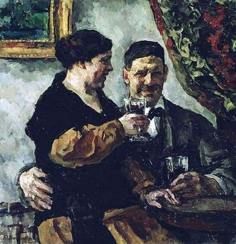 Description of the painting by Peter Konchalovsky Self portrait with his wife (1923)
