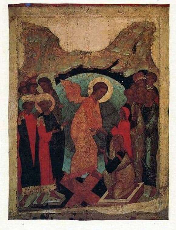 Description of the icon by Andrei Rublev The Descent into Hell