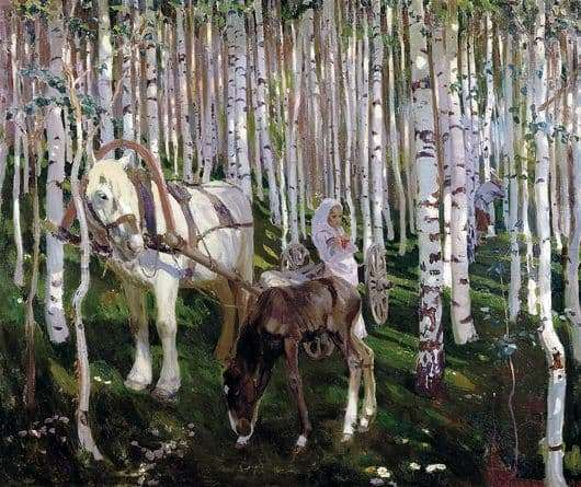 Description of the painting by Arkady Rylov In the forest