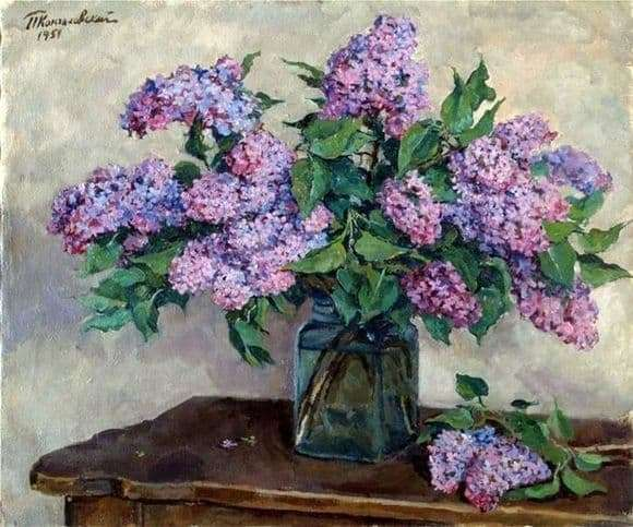 Description of the painting by Peter Konchalovsky Lilac