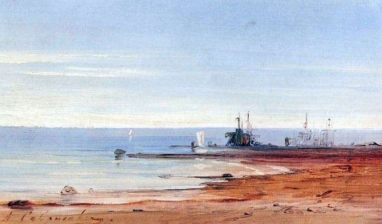 Description of the painting by Alexei Savrasov Sea
