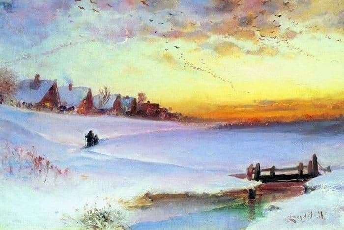 Description of the painting by Alexei Savrasov Winter Landscape (Thaw)