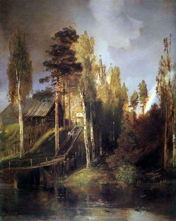 Description paintings Alexei Savrasov At the gates of the monastery