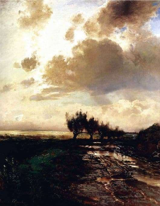 Description paintings Alexei Savrasov Country Road