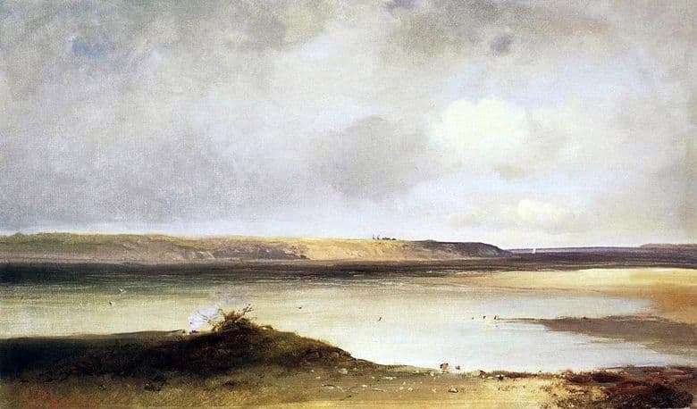 Description paintings Alexei Savrasov Volga. Dali