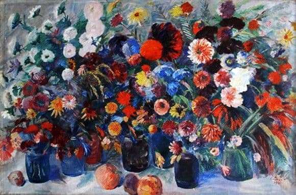Description of the painting by Martiros Saryan Still Life