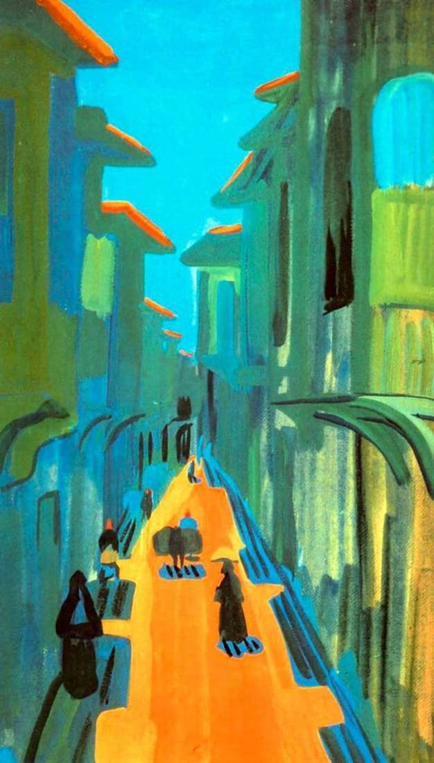 Description of the painting by Martiros Saryan Street. Noon. Constantinople