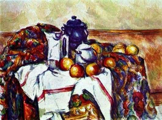 Description of the painting by Paul Cezanne Still Life