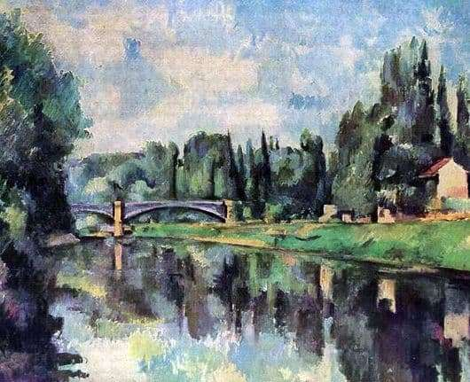 Description of the painting by Paul Cezanne The Coast of Marne