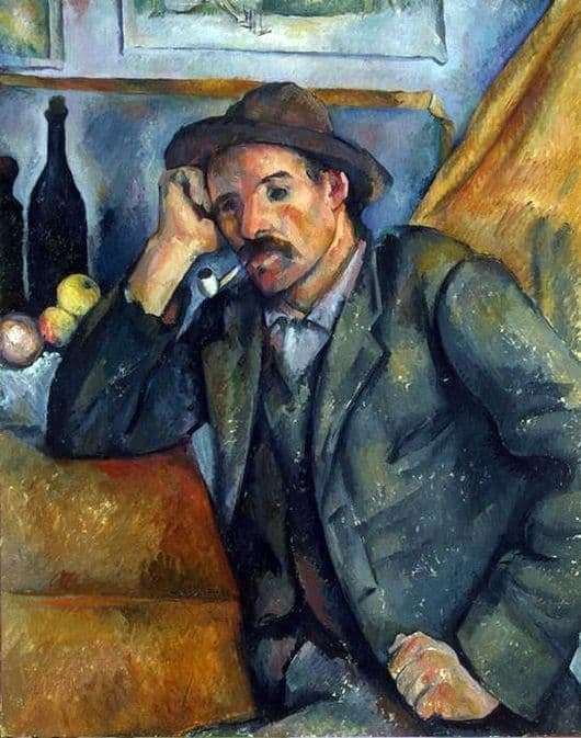 Description of the painting by Paul Cezanne Smoker