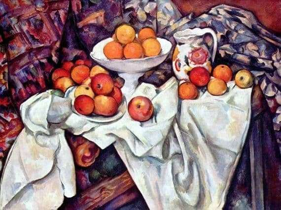 Description of the painting by Paul Cezanne Still Life with Oranges