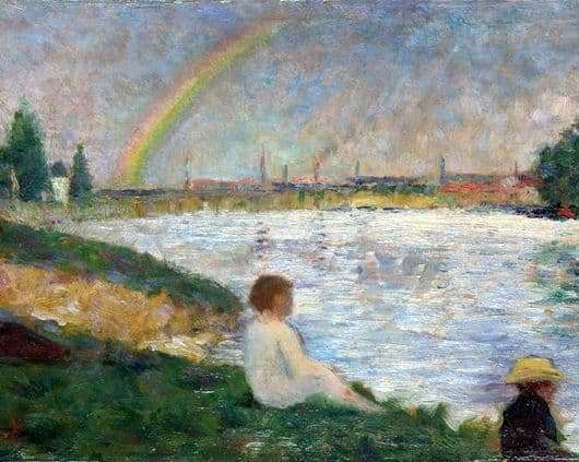 Description of the painting by Georges Seurat Rainbow