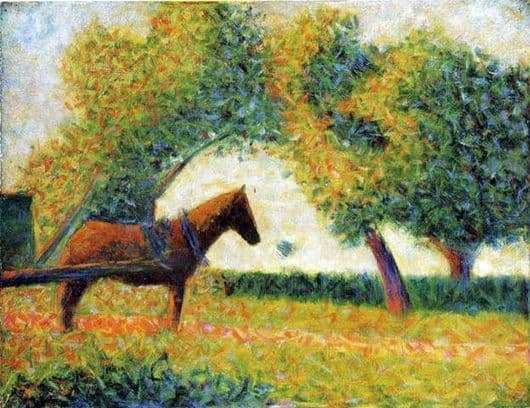 Description of the painting by Georges Seurat Horse