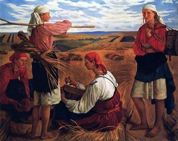 Description of the painting by Zinaida Serebryakova Harvest