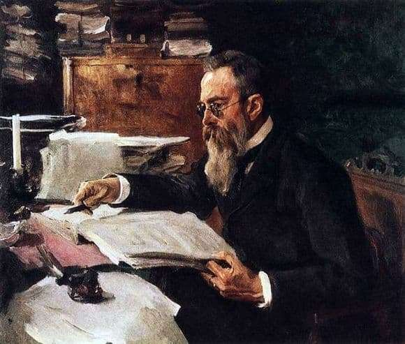 Description of the painting by Valentin Serov Portrait of Rimsky Korsakov
