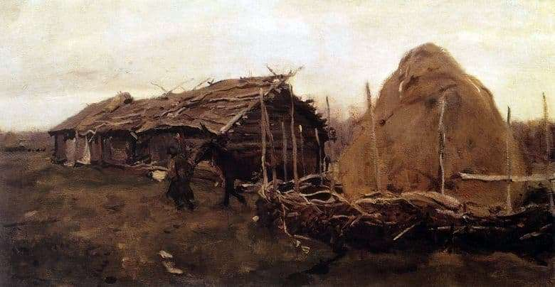 Description of the painting by Valentin Serov Haystack
