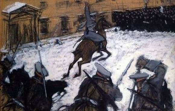 Description of the painting by Valentin Serov Soldiers, bravo guys, where is your glory!