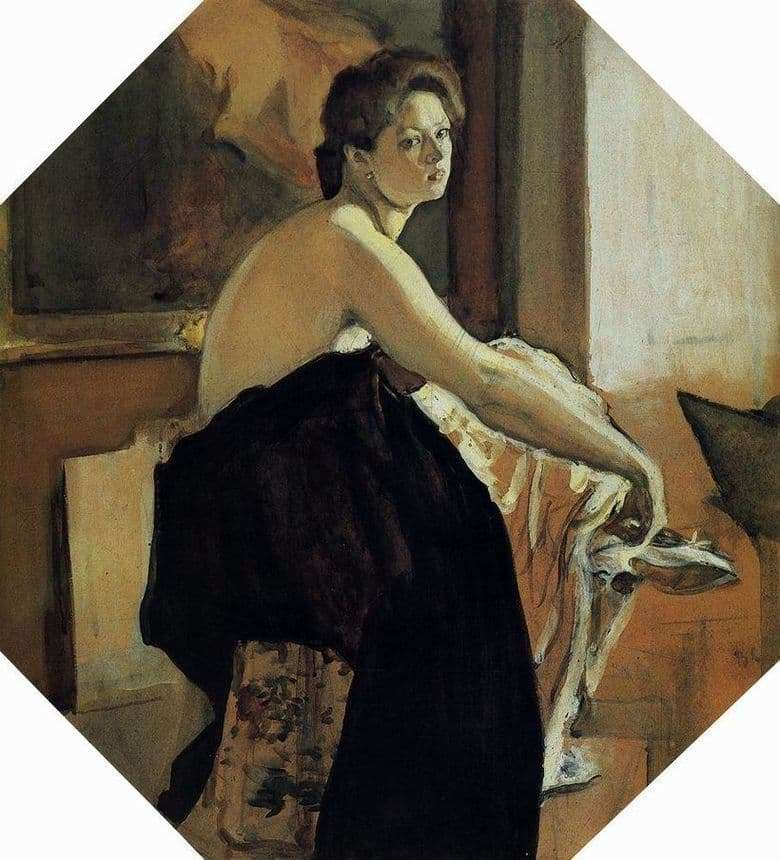 Description of the painting by Valentin Serov The Model